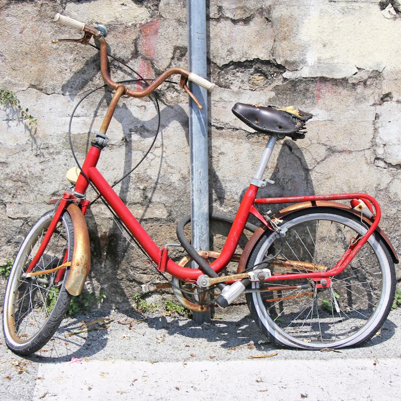 自転車のサビ取り方法!頑固なサビ取り方法と防止策