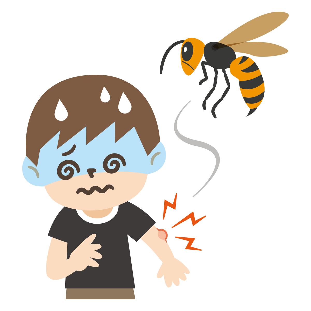しこり 蜂に刺された跡