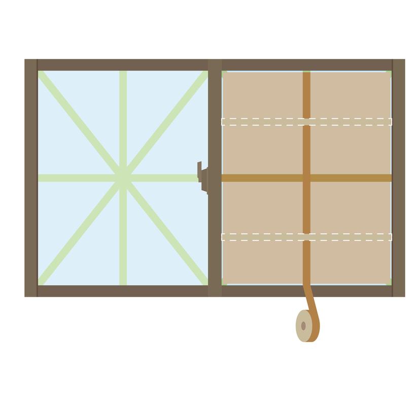 台風の時の窓ガラス対策7個!ダンボールやネットを使って窓を守る
